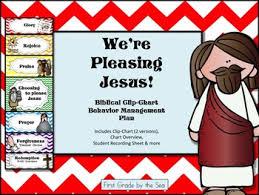 Biblical Behavior Chart Were Choosing To Please Jesus Clip Chart Behavior System