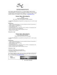 Personal Care Assistant Resume Template Aged Skills Home Aide For