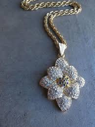 swarovski crystal necklace vintage