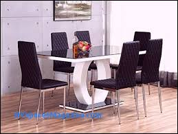 giovani black white high gloss gl dining table set and 6 leather