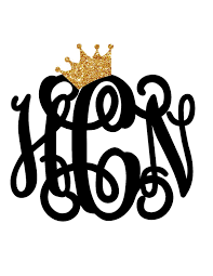 How perfect is this crown monogram this decal will e crown and monogram will e separate so you can place the crown just as you please