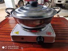 Bếp Điện Mini 1000w - Bếp Điện Mini Tặng Kèm Nồi Lẩu, giá siêu rẻ 269,000đ!
