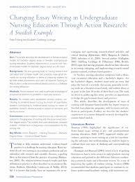 Example Of Literature Essays Pdf Changing Essay Writing In Undergraduate Nursing