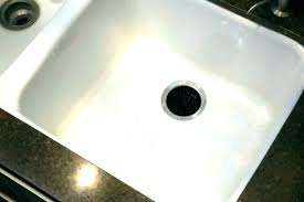 scratched porcelain sink black sinks for bathroom butler repair kit