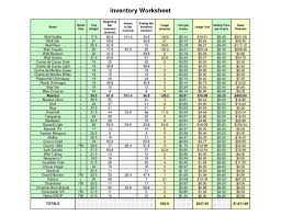 Hotel Linen Inventory Spreadsheet Tagua