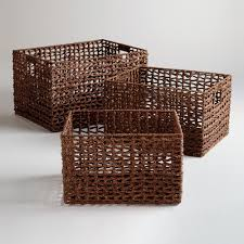 seagrass storage baskets  storage baskets storage and clutter