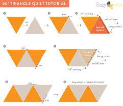 4 FREE Flannel Quilt DIY Ideas! - Suzy Quilts & 60-degree-triangle-quilt-tutorial Adamdwight.com