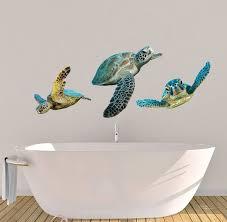 sea turtle decals wall decals bathroom