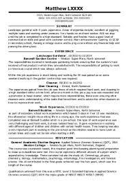 Landscape Gardener Cv For Landscape Gardener