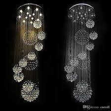 modern item flush mount 12 lights dia800 h3000mm large modern hotel chandelier crystal staircase light drum shade chandelier kids chandelier from cnmall