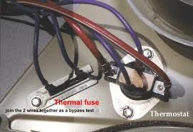 solved what number thermal fuse and thermostat will work fixya kenmore elite 110 7208201 won t heat up