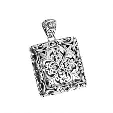 sterling silver filigree pendant zoom