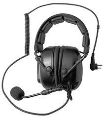 motorola walkie talkie earpiece. aircraft-style headset phs05 motorola walkie talkie earpiece