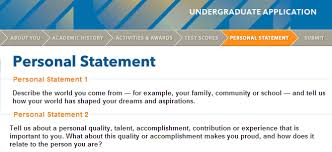 UC Application II: Personal Statements | Golden Bear Blog