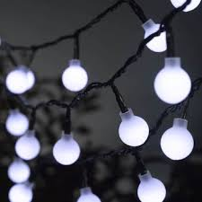 white globe battery string lights