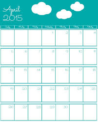 Calendar Format 2015 Free 2015 Printable Calendar The Bearfoot Baker