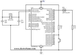 using push button switch with pic microcontroller mikroc wiring push button wiring diagram arduino using push button switch with pic microcontroller mikroc push button starter switch wiring diagram