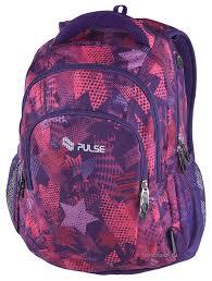 <b>Рюкзак Pulse Teens</b> - Violet Stars (121445) | to-school.ru