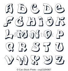 Graffiti Font Styles Alphabet Style Graffiti Alphabet White Tattoo Alphabet Lettering