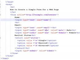 How To Create Web Pages Using Html How To Create A Simple Form For