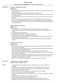 Android Developer Resume Samples Velvet Jobs