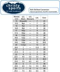 Ski Boot Size Chart Atomic Ski Boot Size Chart Uk Fischer Cross Country Ski