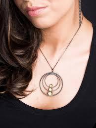 fiona kerr jewellery black gold large pendant bg09