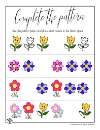 Pattern Worksheet Custom Inspiration Ideas