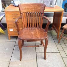 vintage wooden office chair. vintage oak chair wooden office