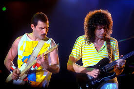 """Queen: Freddie Mercury and Brian May, """"Crazy Little Thing Called ..."""