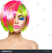 Beauty Fashion Model Girl Colorful Dyed Stock Photo Edit Now 243278416
