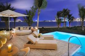 modern tropical furniture. Outdoor Space With Infinity Pool And Modern Tropical Furniture Home Beach Decoration R