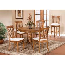 hilale furniture bayberry oak 44 inch round table with chairs