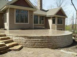 retaining wall patio best choice