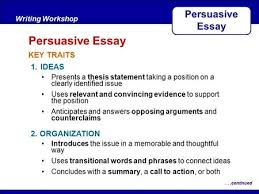 introduction to persuasive speech writing what are the main  after reading key traits writing workshop persuasive essaycontinued ideas