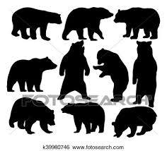 野生 動物 熊 シルエット クリップアート