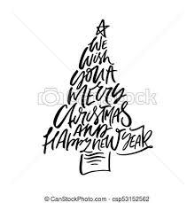 レタリング 木 クリスマス