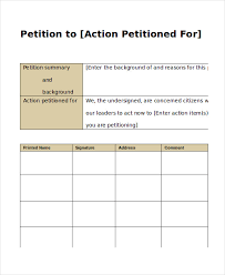 Template For Petition 7 Petition Templates Pdf Word Free Premium Templates