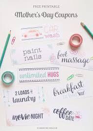 Printable Homemade Coupons Free Printable Mothers Day Coupons To Make Moms Day Printables