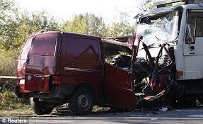 Road carnage: 18 farm workers die after packed van crashes into a ...