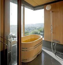 Modern bathroom design in Japanese style