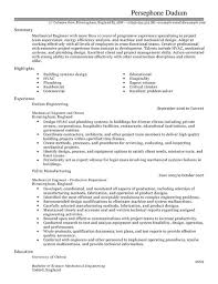 Mechanical Engineer Cv Example Resume Template Cover Click Here To