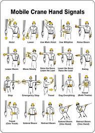 Crane Hand Signals Osha Crane Signals Health Safety
