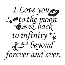 Quote I Love You To The Moon And Back Custom Amazon Nursery Wall Decal Vinyl Nursery Quote Children Wall