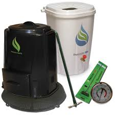 enviro world rain barrel compost bin with base and accessories combo