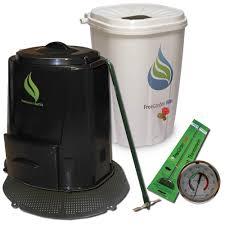 enviro world rain barrel compost bin with base and accessories combo