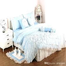blue bedroom sets for girls. Blue Bed Sets Full Sheet Light Cotton Satin Princess Lace Girl Duvet Cover Bedroom For Girls O