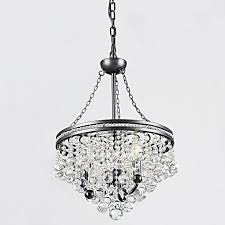 eleanor 3 light antique bronze crystal chandelier