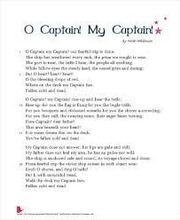 o captain my captain essay questions