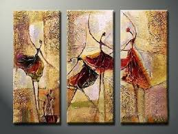 bedroom wall art canvas painting ballet r painting abstract figure art acrylic art 3 piece wall art